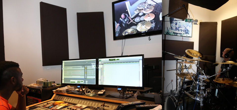 Nexxus Media Studios Control Room & Drum Booth